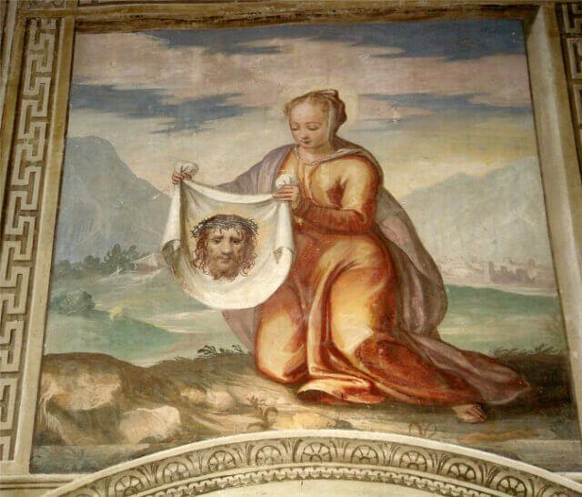 Fresco madonna con sindone luxury villa italy