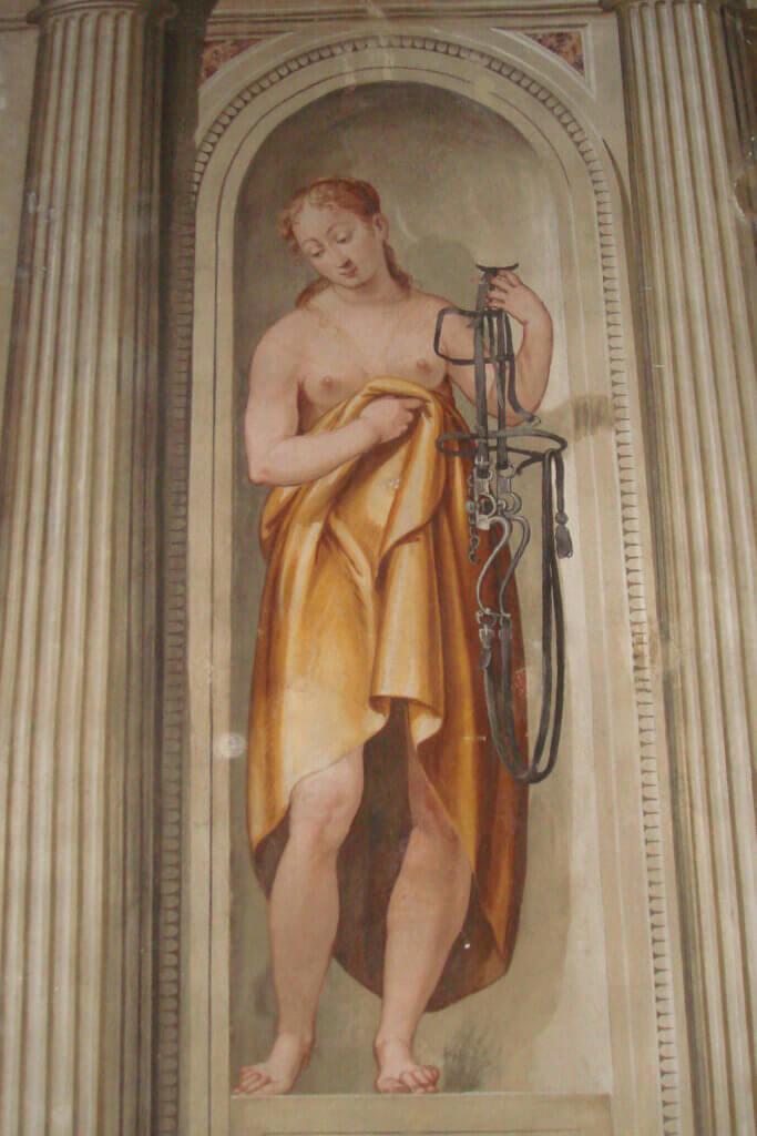 affresco che rappresenta la prudenza villa palladiana rigoni savioli